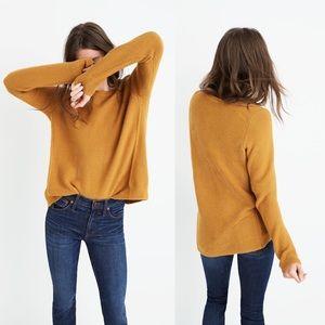 Madewell Riverside mustard textured sweater